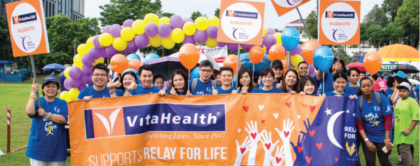 VitaHealth Malaysia Supplement: Relay For Life 2017 Feature Banner - Enriching Lives With Our Liver Supplements, Eye Supplements, Joint Care Supplement, Supplement For Men & Women