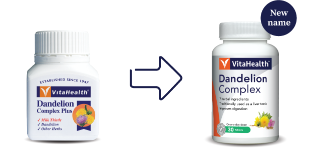 VitaHealth Malaysia Supplement: New Look, Same Quality For Our Digestion & Liver Supplements - Dandelion Complex