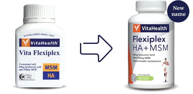 VitaHealth Malaysia Supplement: New Look, Same Quality For Our Joint Care Supplement - Flexiplex HA + MSM