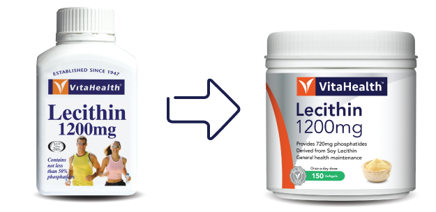 VitaHealth Malaysia Supplement: New Look, Same Quality For Our Health Supplements - Lecithin 1200mg