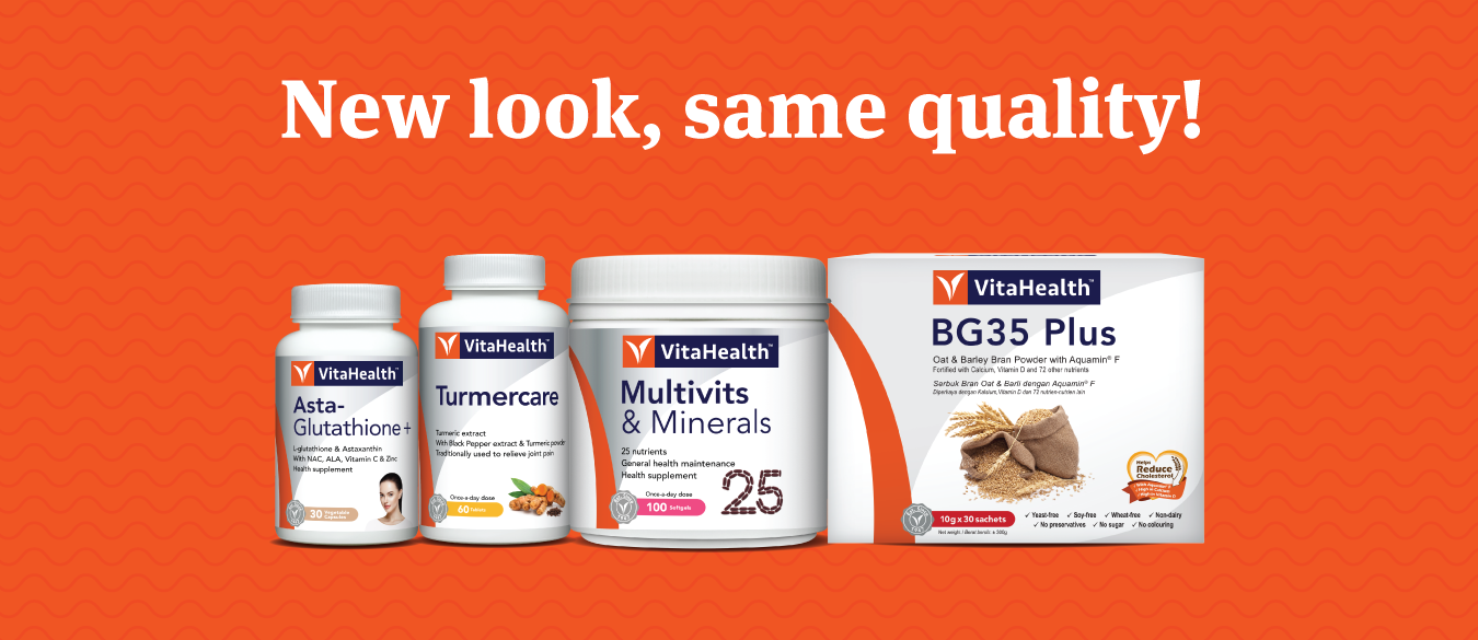 VitaHealth Malaysia Supplement: New Look For Our Health Supplements