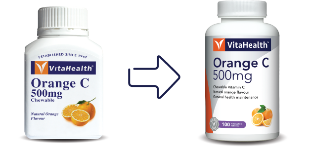 VitaHealth Malaysia Supplement: New Look, Same Quality For Our Health Supplements - Orange C 500mg