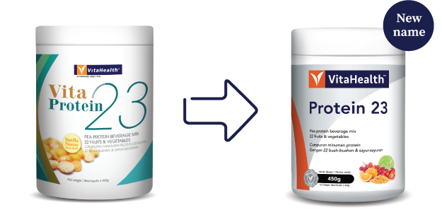 VitaHealth Malaysia Supplement: New Look, Same Quality For Our Health Supplements - Protein 23