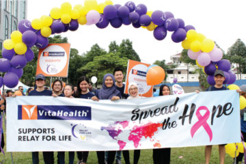 VitaHealth Malaysia Supplement: Relay For Life 2018 Team Photo - Enriching Lives With Our Liver Supplements, Eye Supplements, Joint Care Supplement, Supplement For Men & Women