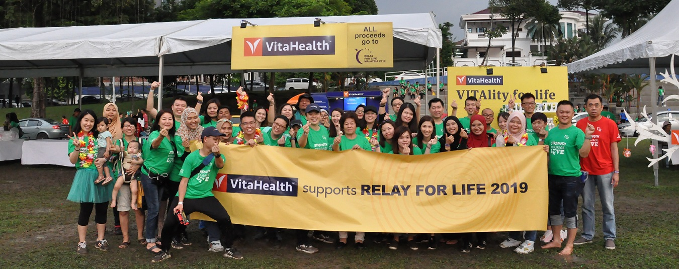 VitaHealth Malaysia Supplement: Relay For Life 2019 Feature Banner - Enriching Lives With Our Liver Supplements, Eye Supplements, Joint Care Supplement, Supplement For Men & Women