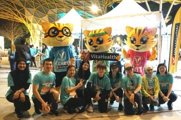 VitaHealth Malaysia Supplement: #KamiCaring Run Team Photo - Enriching The Lives of The Next Generation With Our Kids Supplements